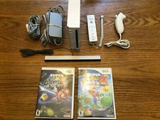 New listing Nintendo Wii System Bundle Console Gamecube Compatible Super Mario Galaxy 1&2