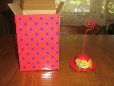 New in Box Burton & Burton RED HAT SOCIETY Picture/Paper/Place Card Holder