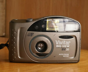 Vivitar Big View BV35 Point & Shoot 35mm Film Camera Fully Functional