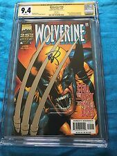 Wolverine #145 foil cover - Marvel - CGC SS 9.4 NM - Signed by Erik Larsen