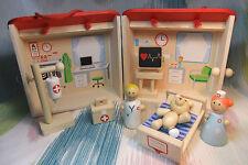Kaper Kidz Children's Wooden Pretend Hospital Playset Toy in Case! 9pc set!