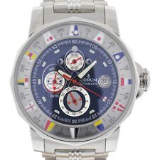 Authentic Corum Admirals Cup Tides 44 Stainless Steel Men's Watch 977.630.20