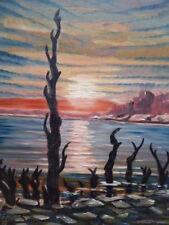 OIL ON BOARD ARMAGEDDON ARTIST R SCHLUTER  FREE SHIPPING ENGLAND