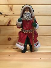 Christmas Santa By Clothtique Stands At 10.25 inches (Peace on Earth) #15009