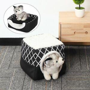 Folding Fleece Warm Puppy House Dog Cat Pet Bed Cave Sleeping Mat Soft
