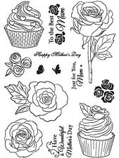 Crafty Impressions clear stamps Cupcake