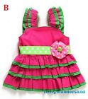 New Baby Girls Christmas Xmas Santa Outfit Set One Piece Party Dress Size 0-4Y