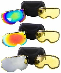 Bee Goggles Ski Snowboard with Anti Fog Dual Magnetic Lense Special