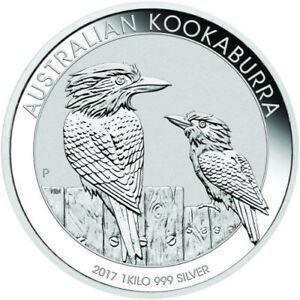2017 .999 Silver Australian 1 kilo Kookaburra giant coin