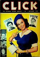 Click Magazine November 1938 Abian Wallgren Albert Einstein Adolf Hitler