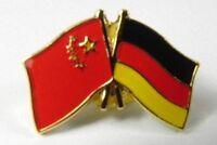 Deutschland China Freundschafts Flaggen Pin,souvenir Germany