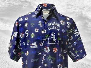 Chicago White Sox Blue Hawaiian Shirt XL SGA 7/1/17 Free Shipping