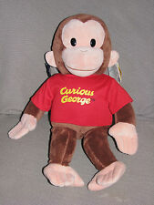 """Applause Curious George 15"""" Large Classic Plush Toy Figure Red Shirt NEW"""