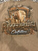Rugged Earth Outfitters Mens Tan Long Sleeve Shirt XL Hunting