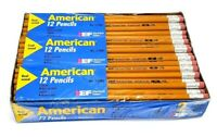 Vintage American EF Eberhard Faber Real Wood Pencils 2 HB Lot of 72 (New Sealed)