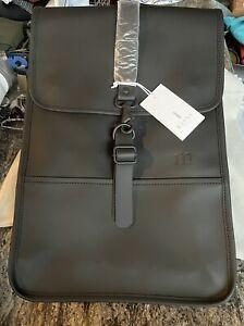 """NWT Rains Backpack One Size Mini Black 17""""x11"""" Msrp $95"""