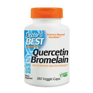 Doctor's Best, Quercetin / Bromelain, 180 Veg. Capsules 500/250mg.