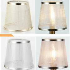 Sheer Small Lampshade Textured Fabric Drum Shade Table Ceiling Light Cover Clear