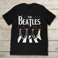 The Beatles Abbey Road Christmas Classic Black T Shirt. Best Christmas Gift.