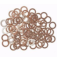 100 Copper Sump Washers. VW, Vauxhall, Mazda, Daewoo, Mercedes, Suzuki - SW2x100