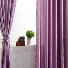 Rod Pocket Satin Half Shading Blackout Window Curtain Panel Sheers 150x250cm