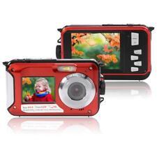 "Double Screen HD 24MP Waterproof Digital Video Camera 1080P DV Underwater 2.7"" M"