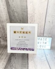 Mother Scrabble Photo Frame Mum Gift Present Personalised Quote Birthday Mummy