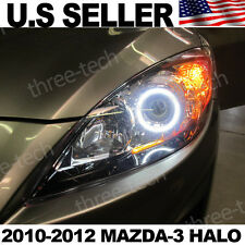 2010 2011 2012 Mazda 3/Speed 3 DRL Angel Eye 6k LED Demon Eye Headlight Upgrade