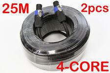 2x 25 Metre Pro 4 Core Male Speakon OFC Speaker Link Lead Cable Cord 25M MaxAV