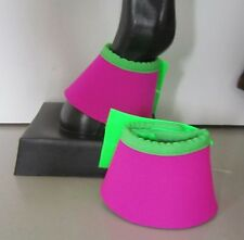 Horse Bell or Overreach Boots Pink & Lime green AUSTRALIAN MADE Protection