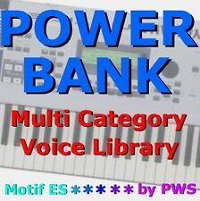 """POWER BANK""   Voice Library for Yamaha Motif ES6 ES7 ES8 ES Rack S90ES MO6 MO8"