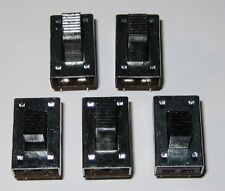 5 X DPDT Slide 3A Switches - 125 VAC - 3 Amp - Metal Body -PC Board Mount Switch
