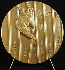 Médaille Lord Bertrand Russel Philosophe Peace Nobel Price 1966 74 mm medal