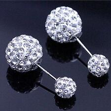 Runder Mode-Ohrschmuck mit Kristall-Hauptstein für Damen