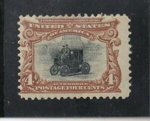 US 296 4c Pan-American Mint Fine Postage  Brown Hinged SCV $85