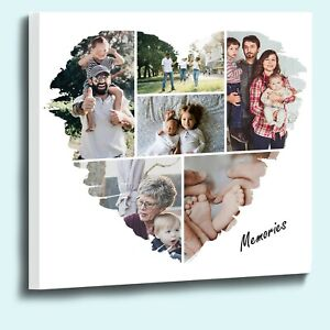 Design your own Heart Shape 6 photo Collage with our online template Mothers Day