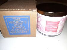 Brand New Bath and Body Works Scented 14.5 oz 3Wick Candle Strawberry Pound Cake