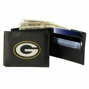 GREEN BAY PACKERS BIFOLD LEATHER WALLET NEW