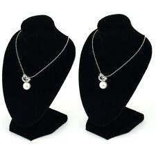 2 x Jewellery Necklace Chain Display Pendant Bust Velvet Holder Show Stand Chain