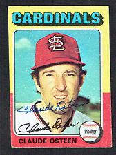 Claude Osteen #453 signed autograph auto 1975 Topps MINI Baseball Trading Card