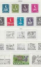 8 Kenya and Uganda Stamps from Quality Old Antique Album 1960-1963