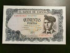 BILLETE DE 500  PESETAS DE JACINTO  VERDAGUER   ( S/C )  SERIE  1 A