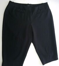 Worthington Shorts Womens Petite 16P Modern Fit Black Flat Front Stretch Bermuda