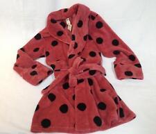 NWT Victorias Secret PINK mauve black polka dot plush cozy short robe XS S