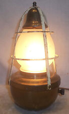 1930's Vintage Brass Buoy w/ Bell Table Lamp Nautical Ship Shore Decor