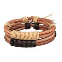 Fashion Men Women Handmade Leather Bracelet Braided Bangle Wristband Jewelry