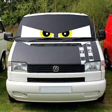 VW T4 Screen Cover Window Curtain Wrap Frost Black Blind Yellow Eyes Transporter