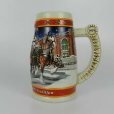1999 Budweiser 20th Anniversary Holiday Stein a Century of Tradition 2001 Miller