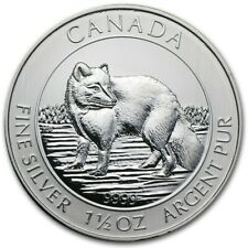 2014 1.5oz Canada $8 Artic Fox .9999 Fine Silver Bu Round Bullion