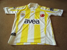 FENERBAHCE WHITE & YELLOW AWAY  FOOTBALL SHIRT ADIDAS AVEA SIZE 152